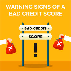 Warning Signs of a Bad Credit Score